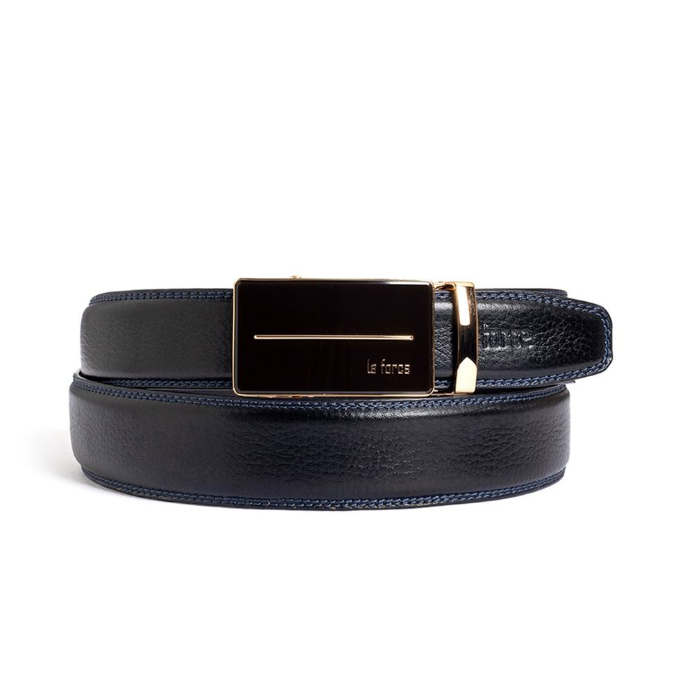 Thắt lưng da bò nam D590-1364V đen trơn