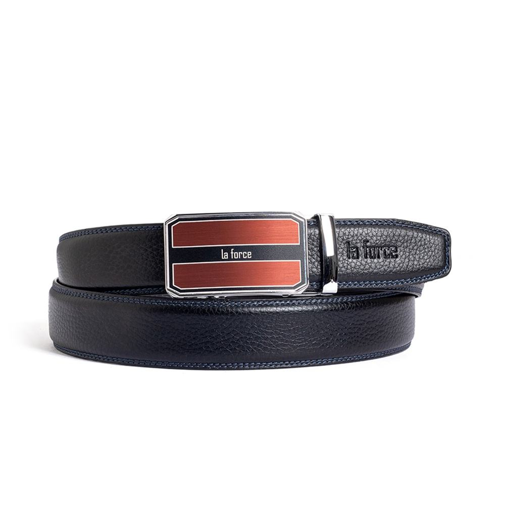 Thắt lưng nam da bò D590-1163B đen trơn