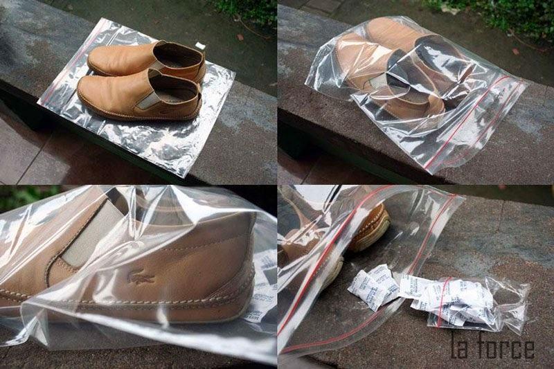 bảo quản giày da không bị mốc