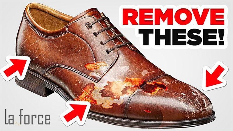giày da bị xước