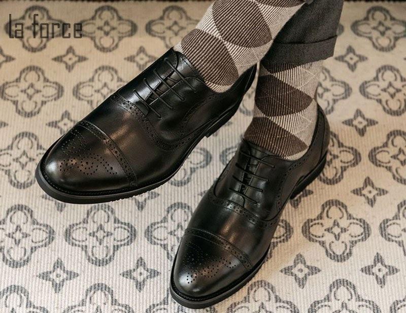 Giày nam đế cao brogues GCLAS997-3-D