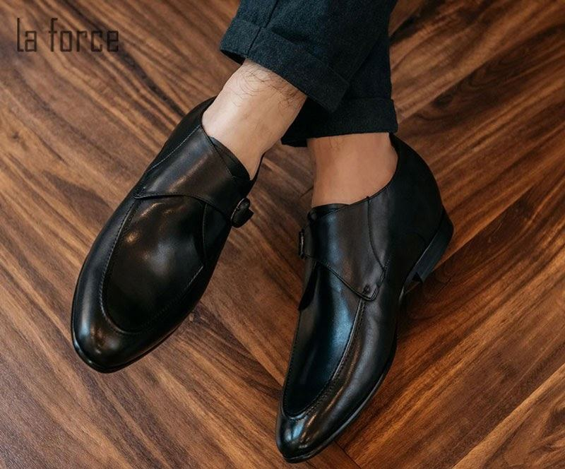 giày tăng chiều cao nam monk strap