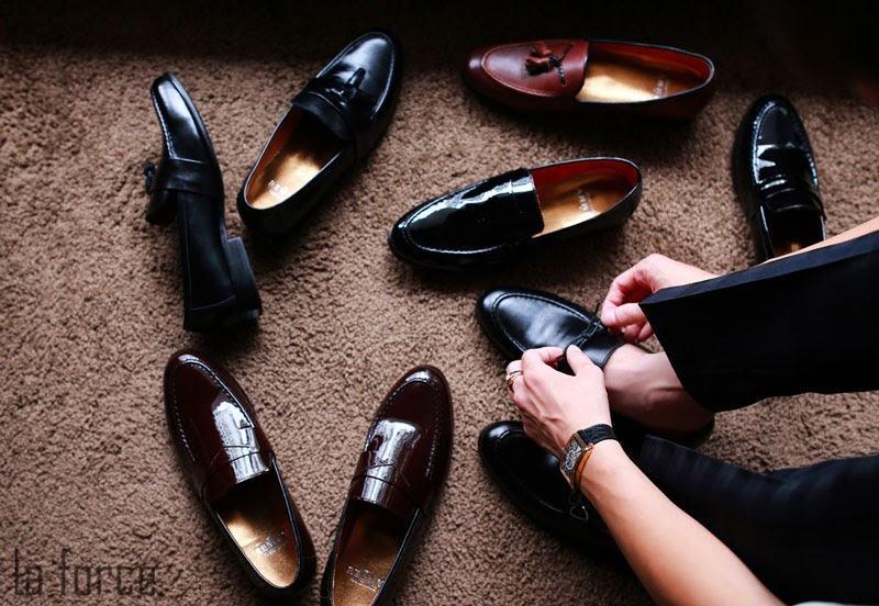 phục hồi giày da bị nhăn