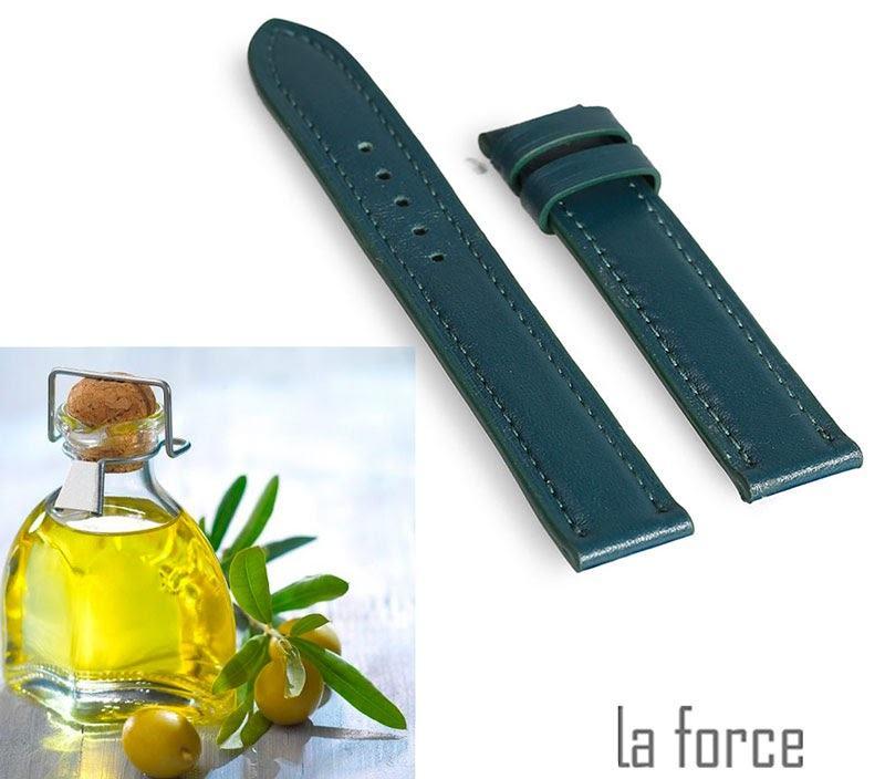 làm mềm dây da đồng hồ bằng dầu oliu
