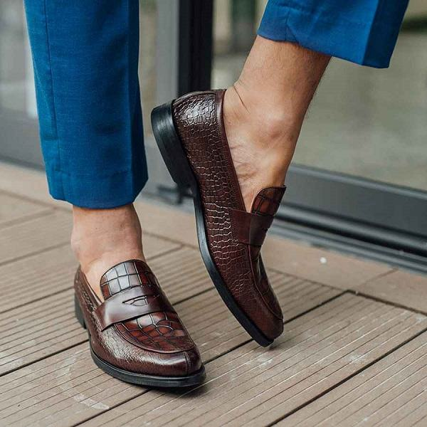 giày da nam nâu