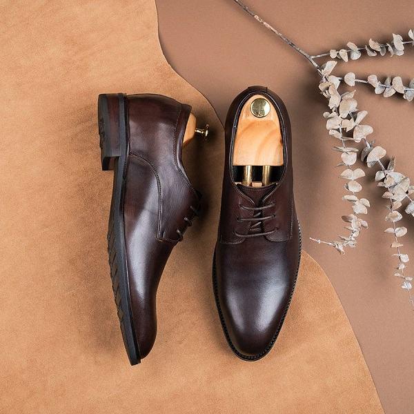 giày nâu da nam