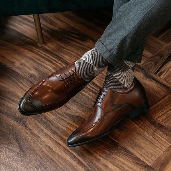 giày tây nam nâu