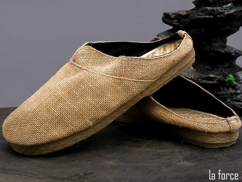 giày sục nam da bò