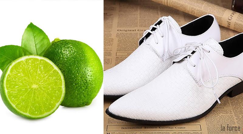 cách làm sạch giày da trắng bị mốc