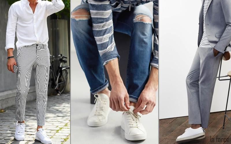 cách phối đồ với giày trắng