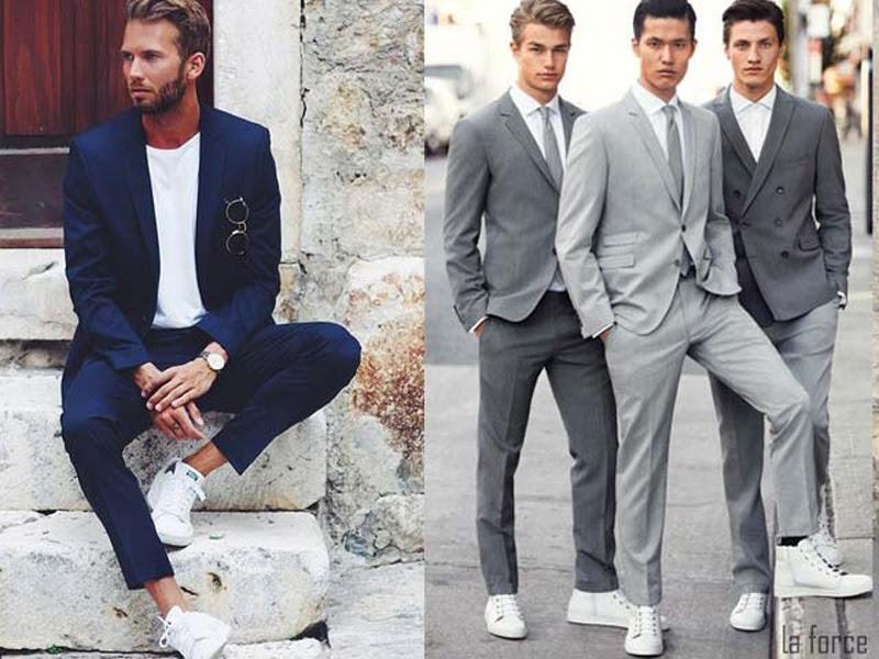 kết hợp giày trắng