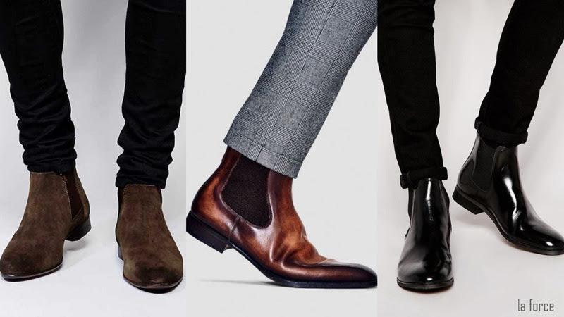phối đồ với giày chelsea boots nam